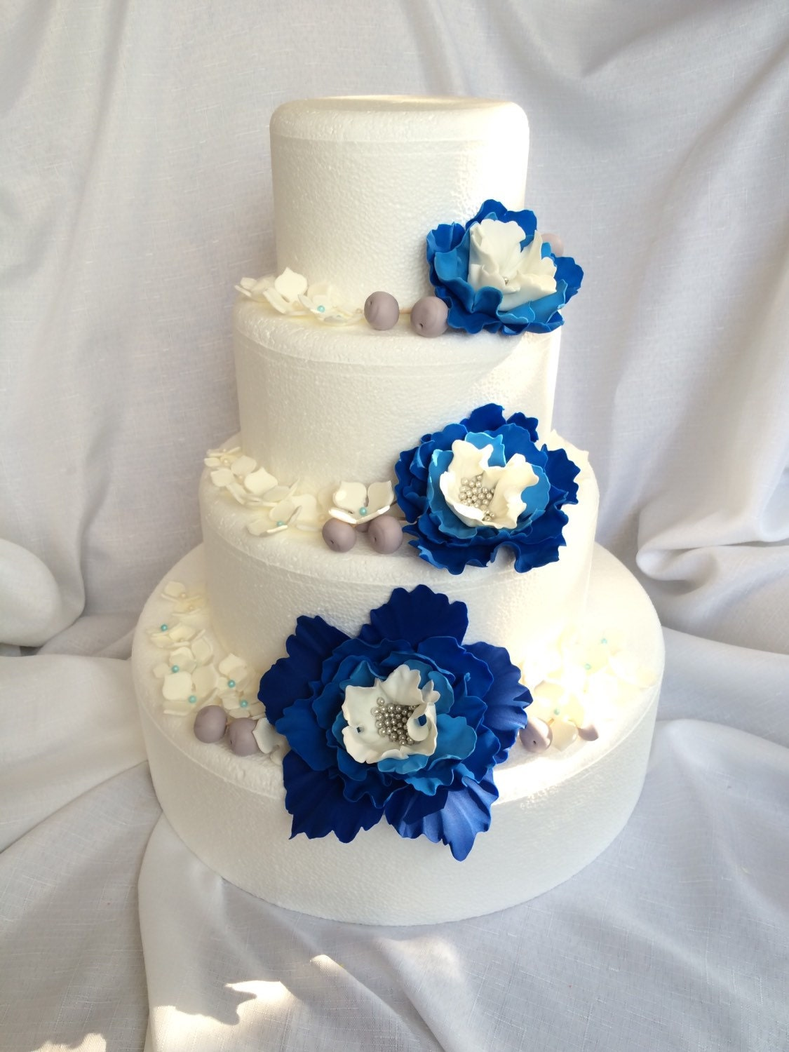 Royal Blue Wedding Cake Topper