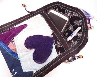 Shabby Chic Goth Bag - Handmade bag