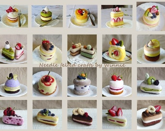 Made to order Needle felted cakes