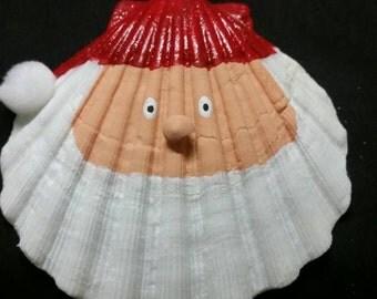 A Santa Claus seashell ornament