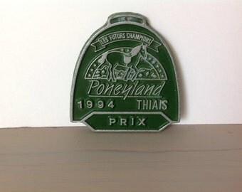 Plate Vintage price Poneyland 1994 THIAIS future Champions