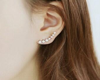 Platinum Plated Ear Cuff Earrings