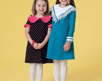 OUT of PRINT McCall's Pattern M7235 Children's/Girls' Dresses