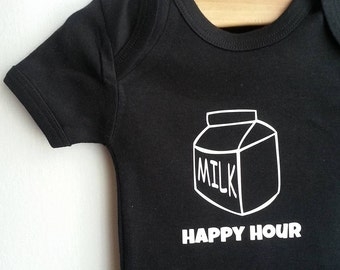Milk Happy Hour Onesie / bodysuit / baby / ready to ship