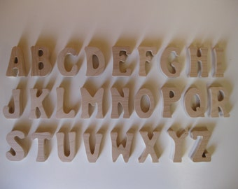 Wood Letters Full Alphabet 26 Stand-up Wood Letters