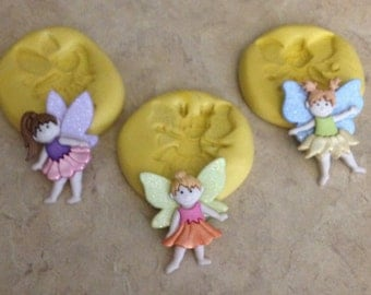 Fairy With Wings Set Silicone  mold