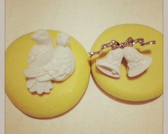 Wedding Bells and Doves Mold Silicone