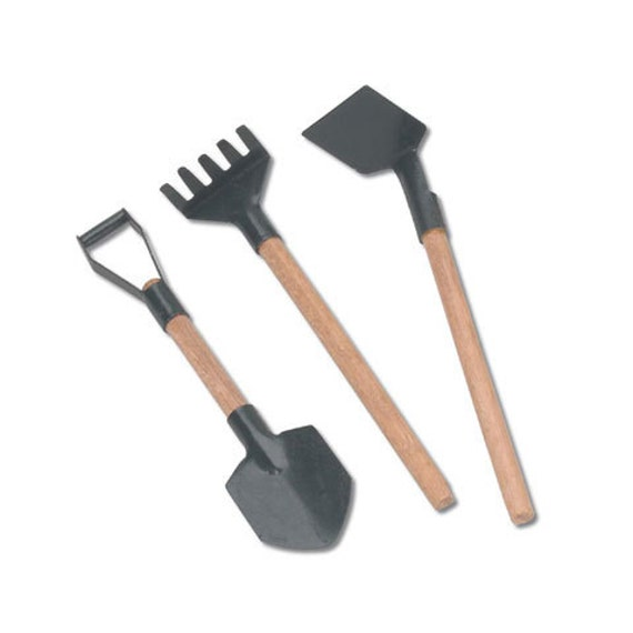 miniature garden tools 3 outdoor set of 3 fairy garden