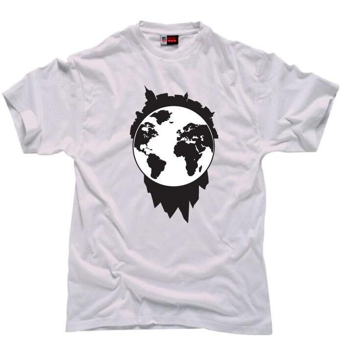 Custom Graphic Design T Shirt Globe Design T Shirt Vinyl