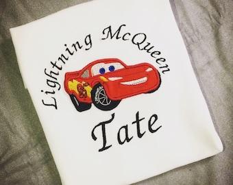 Lightning McQueen shirt!