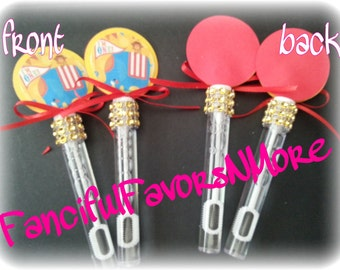 12 Circus Theme 1st Birthday Bubble Wands/ Circus Birthday