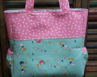 Mermaid Diaper Bag 6 pockets