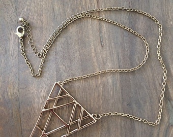 Vintage geometric necklace