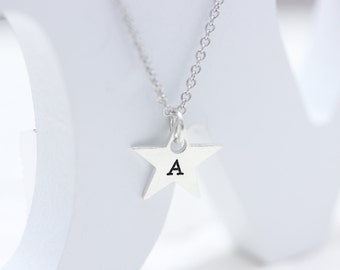 925 sterling silver special star message necklace,  engraving necklace, personalized necklace (WPN_00011)