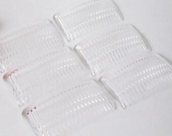 Clear Plastic Comb  / CB-8 Clear Plastic Comb