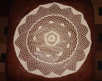 22 inch Doily, name of pattern Sage Circle