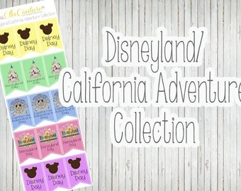 Disneyland/California Adventure Collection Banner Planner Stickers by Ella Couture by Jessica