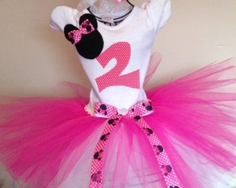 Minnie Mouse birthday outfit