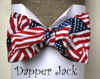 Bow Tie, US flags self tie or pre tied bow tie, bow ties for men.