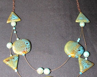 Turquoise Look Bib Necklace