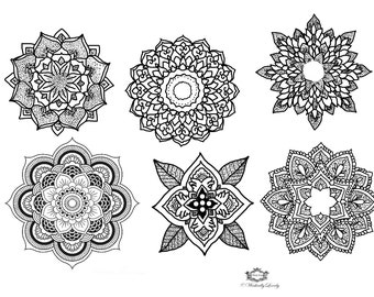 Mandala temporary tattoo set, Boho tattoos  Festival tattoo,  Body Art, Festival tattoos, WickedlyLovely Skin Art includes 6 tattoos