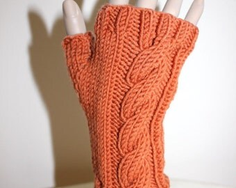 Knitting Pattern for Cabled Fingerless Gloves (0017) - Permission to Sell Finished Products