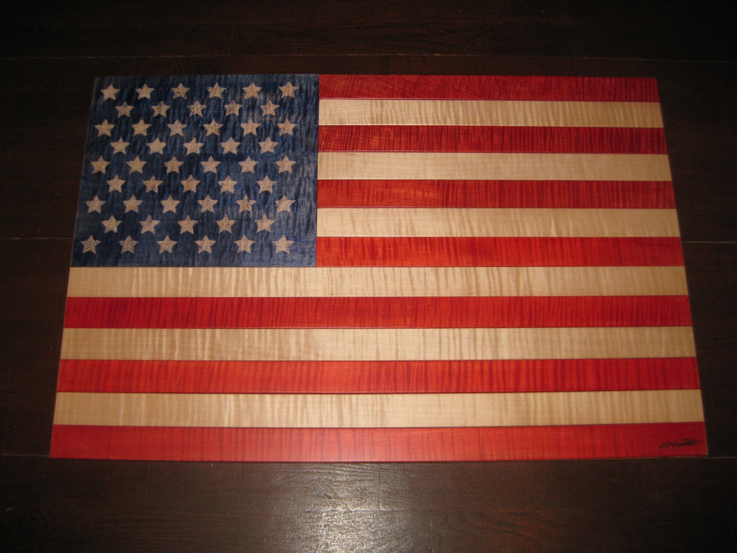 american flag wall hanging wall decor flag by. Black Bedroom Furniture Sets. Home Design Ideas