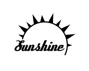 Enjoy the Sunshine - Di Cut Decal - Car/Truck/Home/Phone/Computer/Laptop Decal