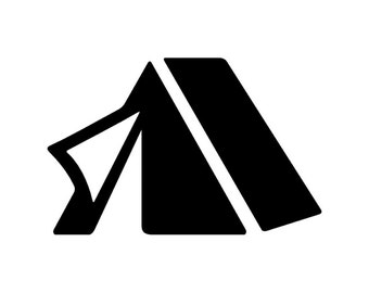 Pitch a Tent with Door Flap Open - Di Cut Decal - Car/Truck/Home/Phone/Computer/Laptop Decal