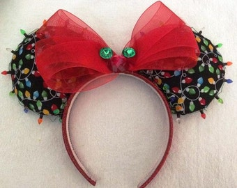 Christmas Disney Mickey Mouse Ears