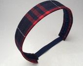School Uniform Headband- Custom Plaid Uniform Headbands #17