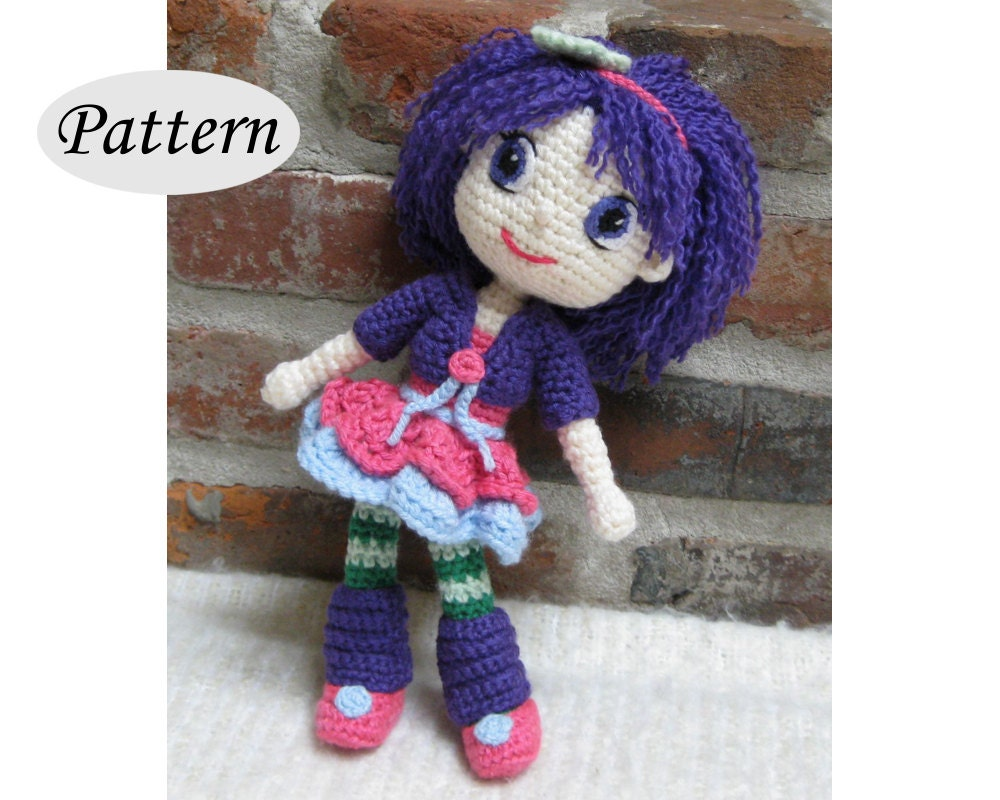 Amigurumi Strawberry Doll Pattern : PATTERN Plum Pudding Strawberry Shortcake Amigurumi