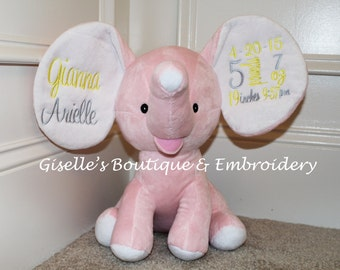 Personalized Plush Elephant