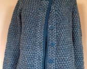 Vintage blue and grey sweater coat