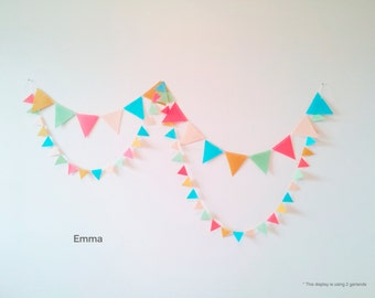 ON SALE 50% off * Felt Flag Garland - Emma