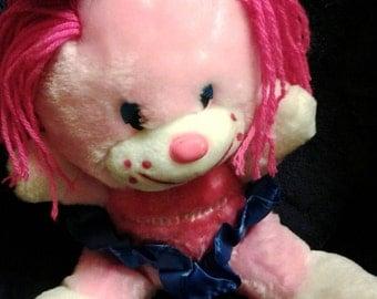 Vintage 1985 Plush Pink Kranimal w/bow