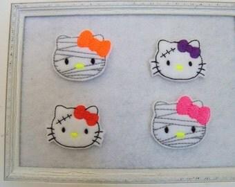 Halloween Kitty Feltie, Mummy Kitty, Frankenstein Kitty, Your Choice, Always Precut