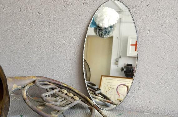 Miroir biseaut vintage r tro boh me art d co for Miroir boheme