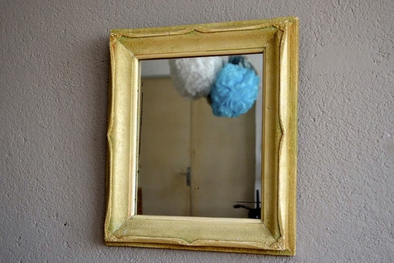 cadre miroir ancien ann es 50 r sine cr me french deco antic. Black Bedroom Furniture Sets. Home Design Ideas
