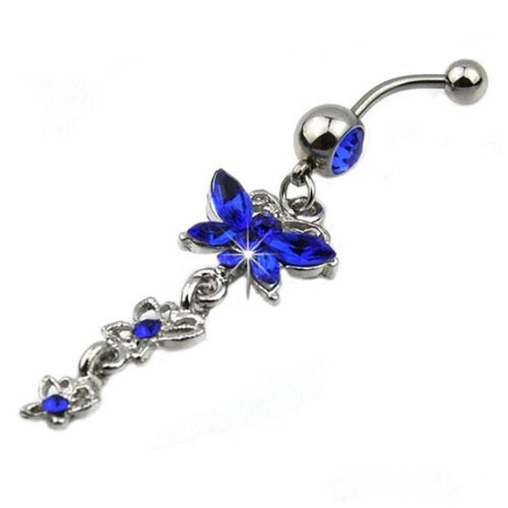 Amazoncom butterfly belly button ring