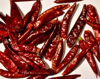Cayenne Chile Peppers, whole - Certified Organic