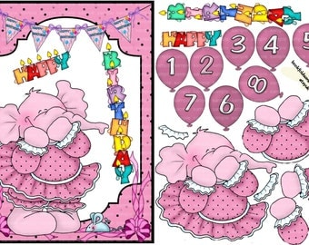 A lovely card front that any lirtle girl will adore