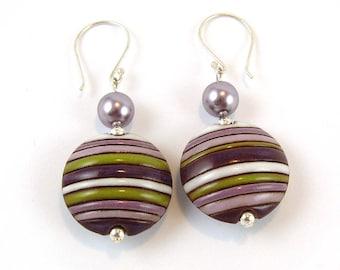 Lilac Handmade Ceramic Earrings