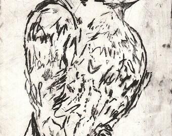 Crow Print 13cm x 18cm