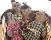 Primitive Halloween Prairie Dolls, FAAP, OFG, HAFair