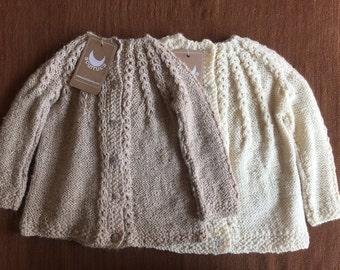 Alpaca wool Cardigan, Hand knitted Cardigan