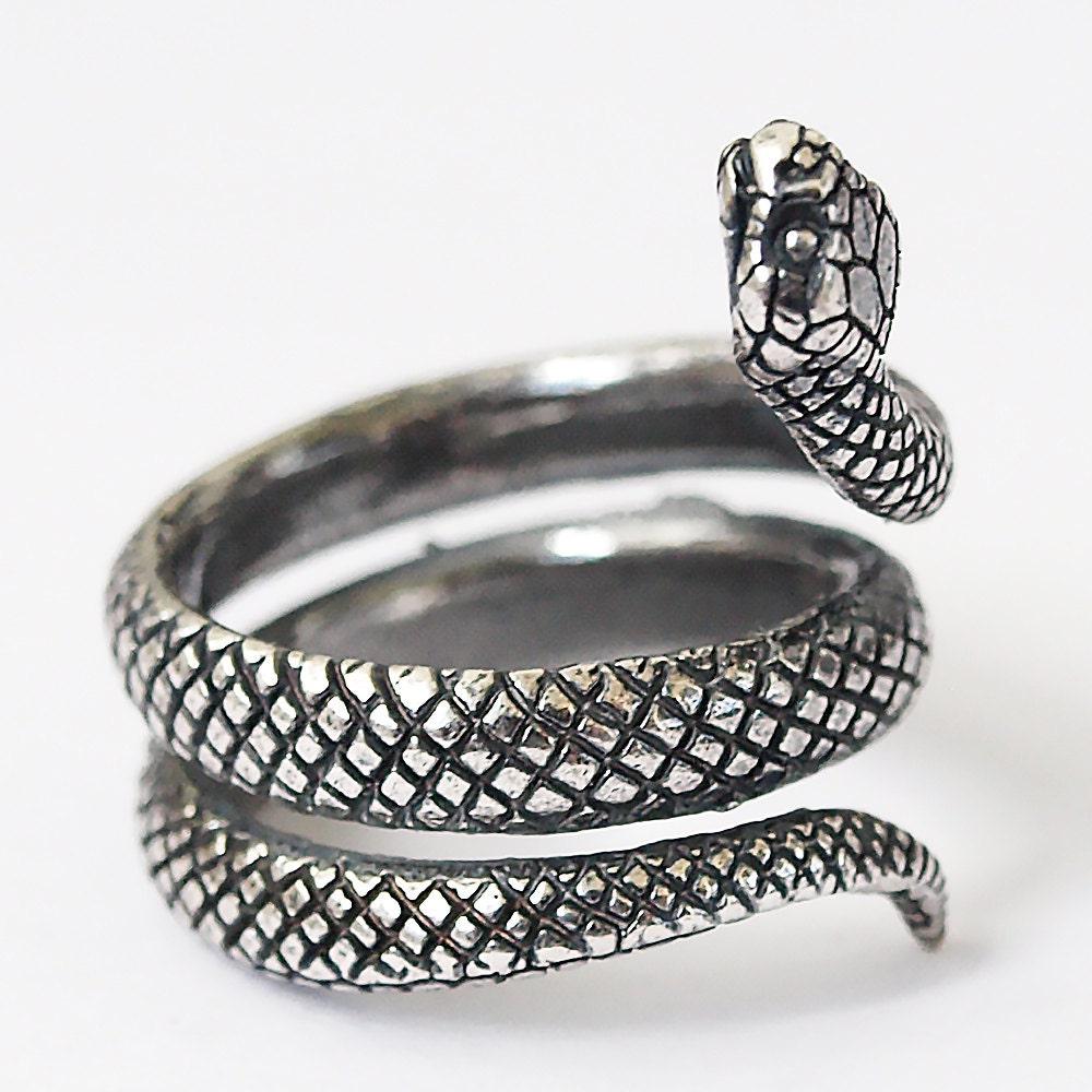 snake ring snake jewelry snake rings snakes silver plated
