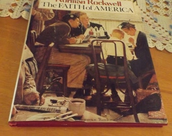 Vintage Book Norman Rockwell, The Faith of America, Artist