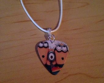 Minion Guitar Pick Necklace
