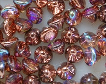 BUTTON BEADS, 4mm Crystal Copper Rainbow, 00030/98533, sold in units of 100